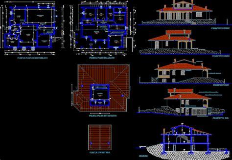 villa dwg plan  autocad designs cad