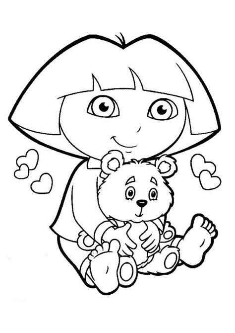 printable dora  explorer coloring pages  kids