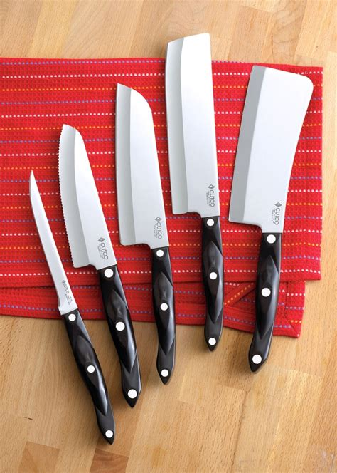 cutco kitchen knives gourmet set with block 7 pieces knife block sets by