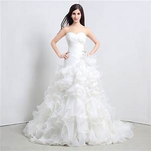 Stock mermaid wedding dresses sweetheart cascading ruffles for Cascading ruffles wedding dress