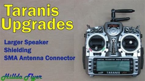 taranis upgrade speaker shielding sma connector flite