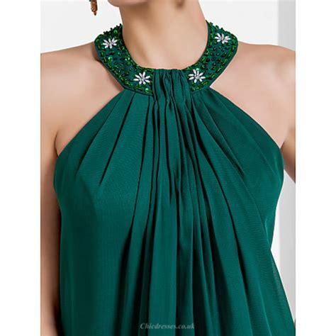 chic dresses formal evening dress dark green  sizes