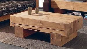 Table Basse Caisse Bois : luxury log furniture ~ Nature-et-papiers.com Idées de Décoration