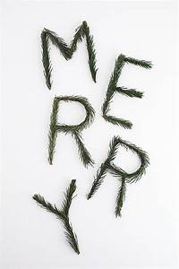 diy merry pine garland With pine letters