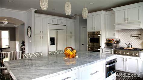 super white quartzite countertops   elegant kitchen