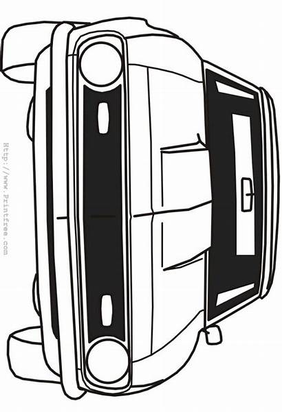 Coloring Camaro Outline Pages Printable Awesome Template