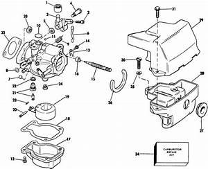 Johnson Carburetor Parts For 1985 6hp J6slcob Outboard Motor