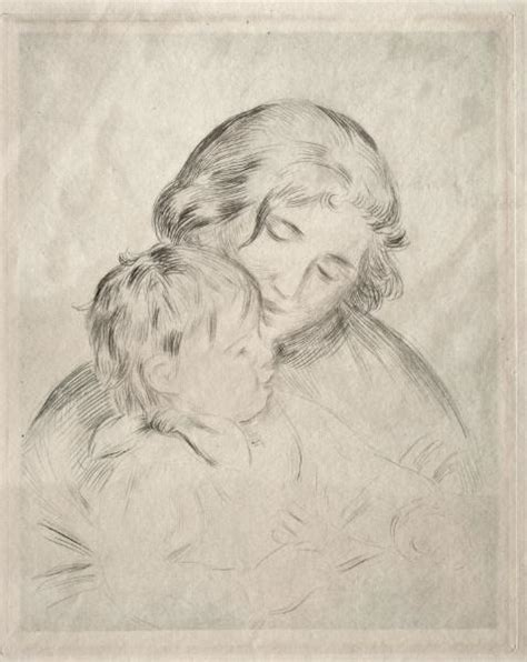 Mother And Child 2 By Pierre Auguste Renoir 1841 1919
