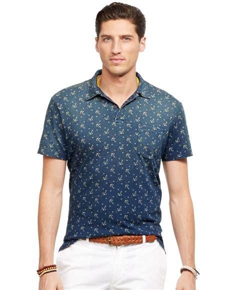 anchorman i l shirt marein polo ralph anchor print jersey polo shirt