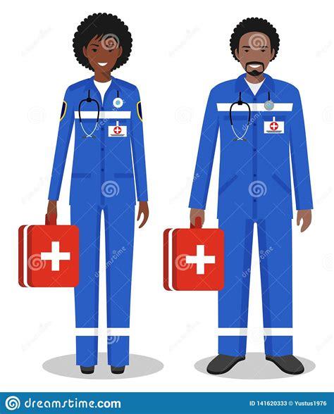 medical teamwork concept detailed illustration couple