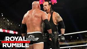 The Undertaker eliminates Goldberg in the Royal Rumble ...