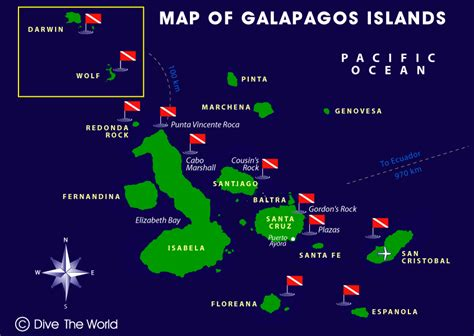 map  galapagos islands darwin wolf san cristobal