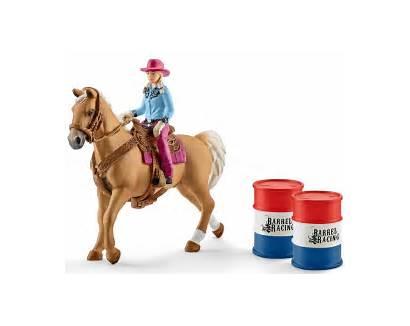 Schleich Farm Cowgirl Spielset Barrel Racing Otto