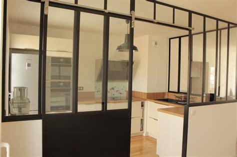 porte de cuisine coulissante verrière de cuisine avec porte coulissante