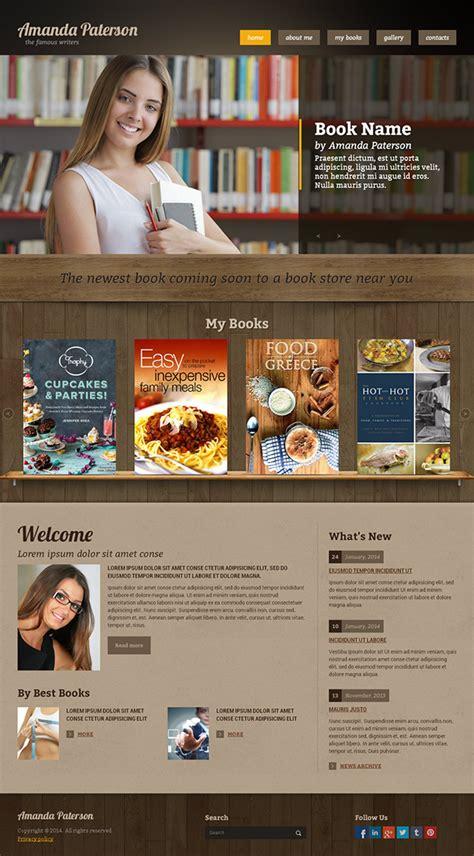 book writer html template  behance