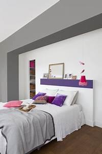 peindre une tete de lit en violet dans une chambre blanche With exceptional conseil pour peindre un mur 11 quelle couleur avec la peinture rose dans chambre salon