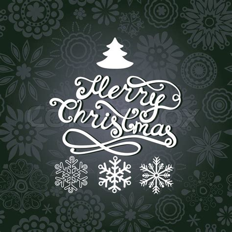 vector merry christmas lettering stock vector