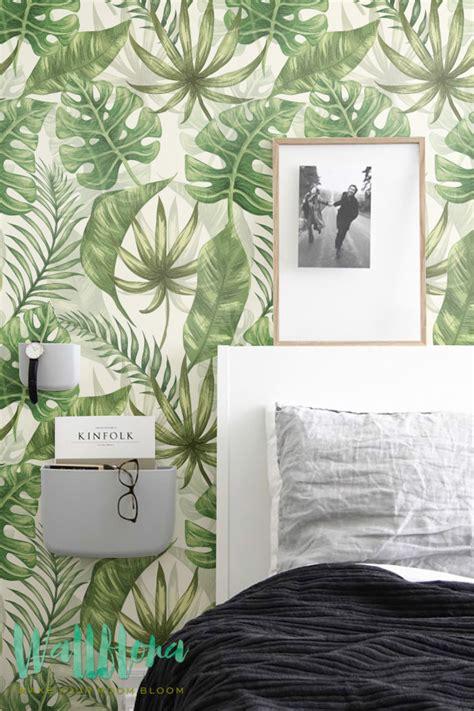 des papier peints tropicaux en attendant lete aventure deco