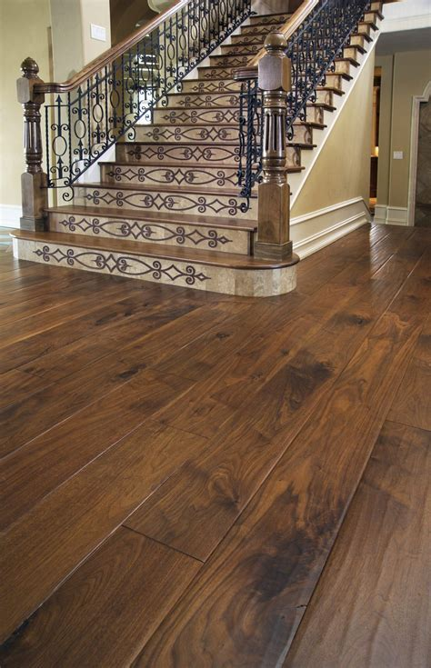 Walnut Flooring in a Landing Area   Carlisle Wide Plank Floors