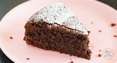 schokoladenkuchen ohne mehl backen macht gluecklich