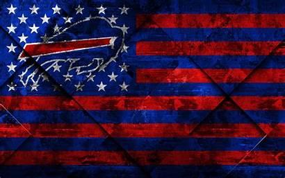 Buffalo Bills American 4k Flag Football Grunge