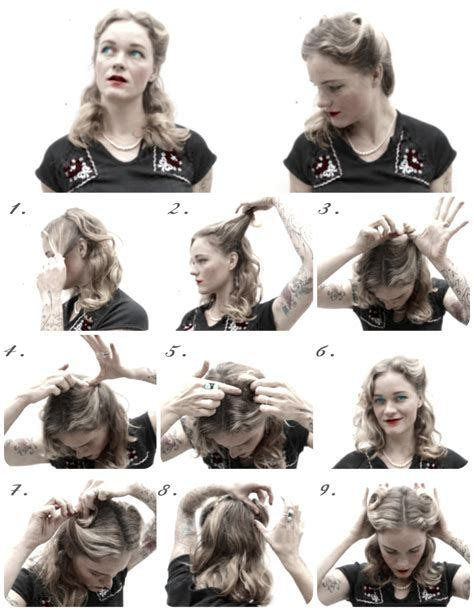 1940s Hairstyles Tutorial by Easy 40s Hairstyles 73104 Easy 1940s Hairstyles For