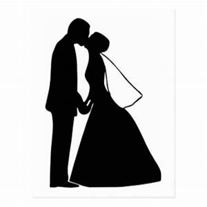 Bride And Groom Silhouette Postcards | Zazzle