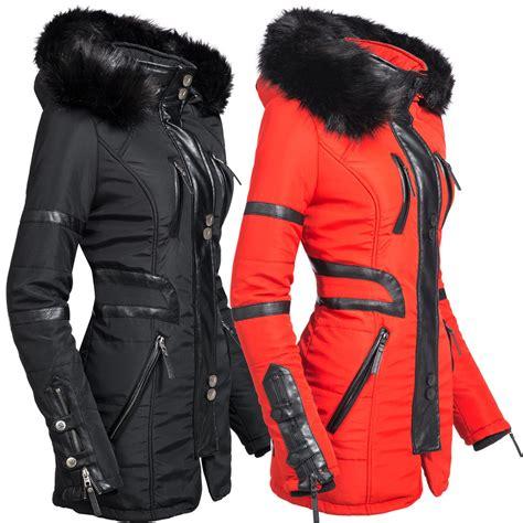 damen winter navahoo moon damen designer winter jacke warmer mantel lang parka gef 252 ttert ym99 ebay