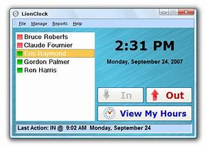lion clock time clock software that replaces your paper time cards With time card software for small business