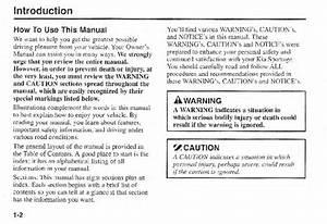 2000 Kia Sportage Owners Manual
