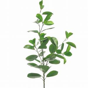 Artificial Rubber Leaf Spray - Green Decorative Leaves