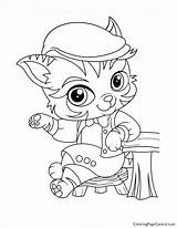 Coloring Pickles Haven Barnaby Whisker sketch template