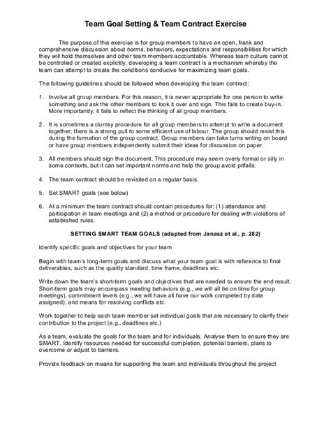 team contract template team contract exercise fall 04