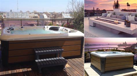 terrazza arredata minipiscina da esterno in terrazza arredata