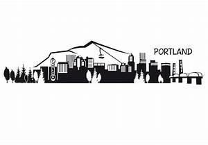 Portland Skyline Wall Decal - Great Cityscape Vinyl Decor