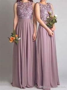 dusty mauve long chiffon jewel neck sleeveless off the With mauve wedding dress