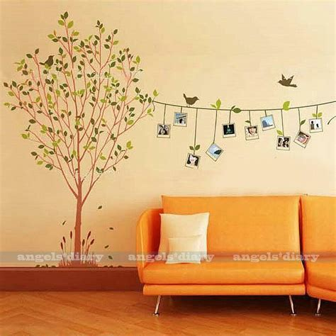wall stickers home decor removable photo frame tree vinyl wall sticker decal