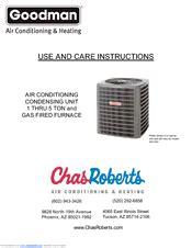 Goodman Air Conditioning Condensing Unit Thru Ton