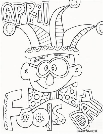 Fools Coloring April Pages Fool Colouring Printable