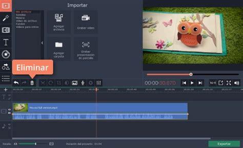 como quitar el sonido   video rapidamente  movavi