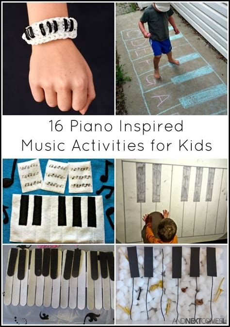 16 piano inspired activities for piano crafts 994 | d1cb3f40568b6f3c7c8217bc995c04ac preschool music activities sensory activities