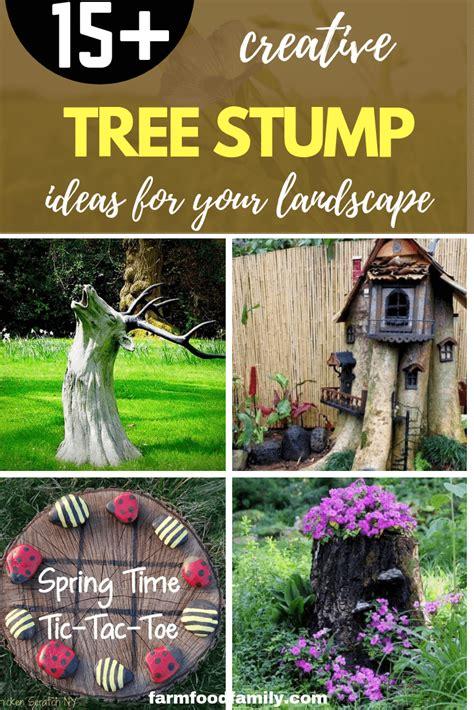 Tree Stump Decorating Ideas - 15 creative tree stump decorating ideas in landscape