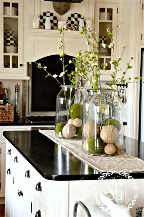 kitchen island decorating 17 ideas about kitchen table centerpieces on