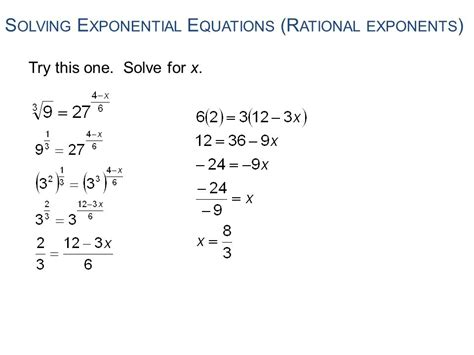 Rational Exponents And More Word Problems  Ppt Download
