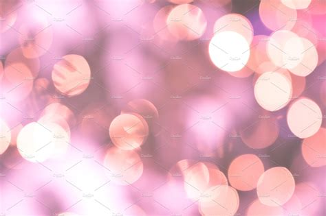 bokeh lights glamour pink background abstract