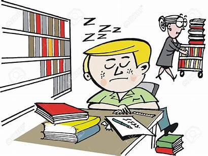 Cartoon Student Vector Clipart Library Lazy Dozing