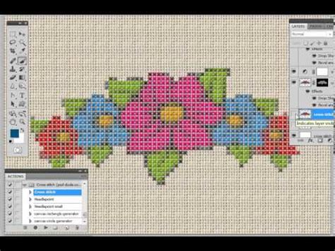 cross stitch action generator youtube
