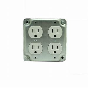 Bush Baby Quad Electrical Outlet With 1080p Hd Wifi Camera