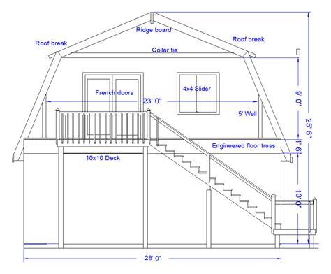gambrel house plans gambrel roof barn barn plans vip