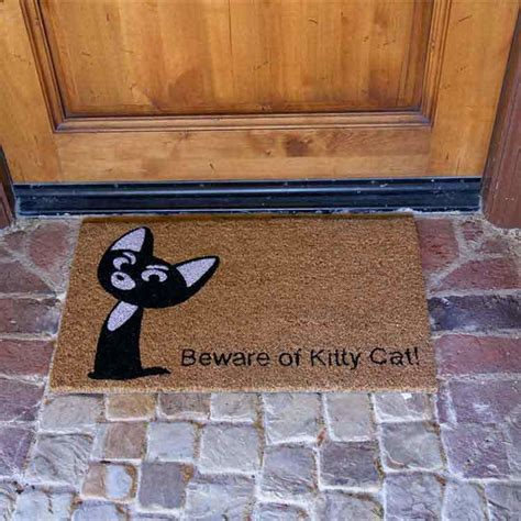 doormat cat quot beware of cat doormat quot